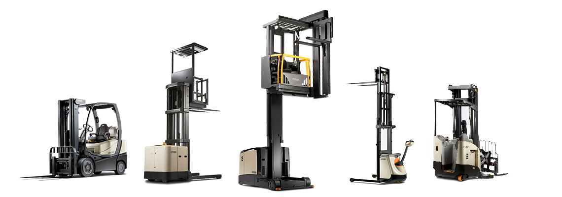 Full line of new forklifts.