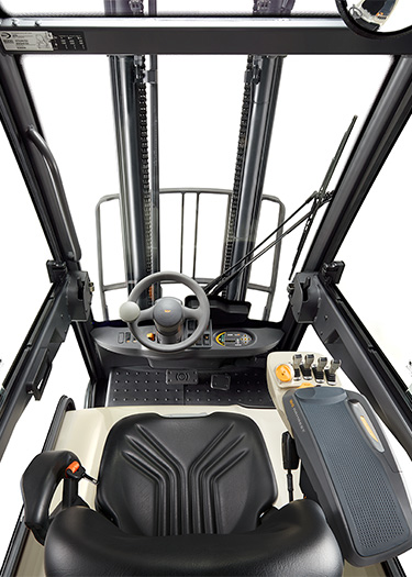 the SC forklift offers outstanding visibility