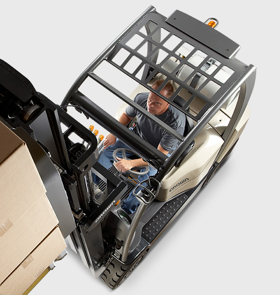 the C-5 gas forklift offers maximum operator comfort and stability