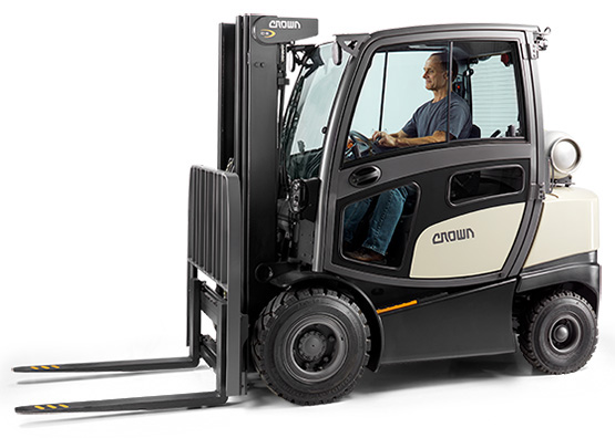C-5 gas forklift with hard cabin