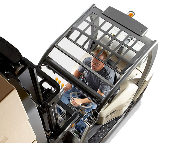 the gas forklift C-5 provides superior visibility