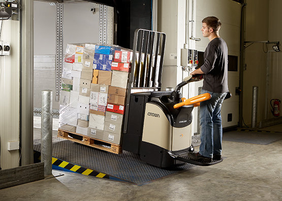 WT platform pallet truck with load backrest