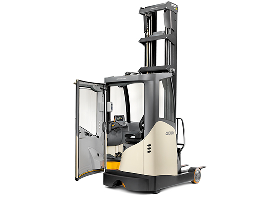 the ESR reach truck is available with cold store cabin