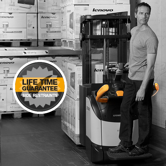 the DT double stacker features folding side restraints with a lifetime guarantee