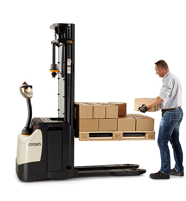 the lift technology for stackers QuickPick Remote can help optimise manual labour