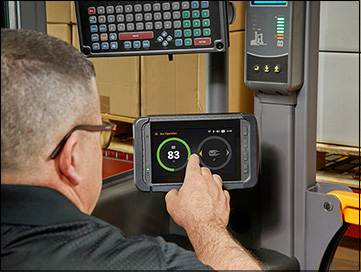 New 7-inch touchscreen for forklift fleet management system