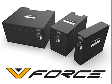 V-Force lithium-ion forklift batteries