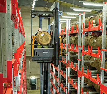 The forklifts and excellent service make Crown Lift Trucks first choice for Bruichladdich