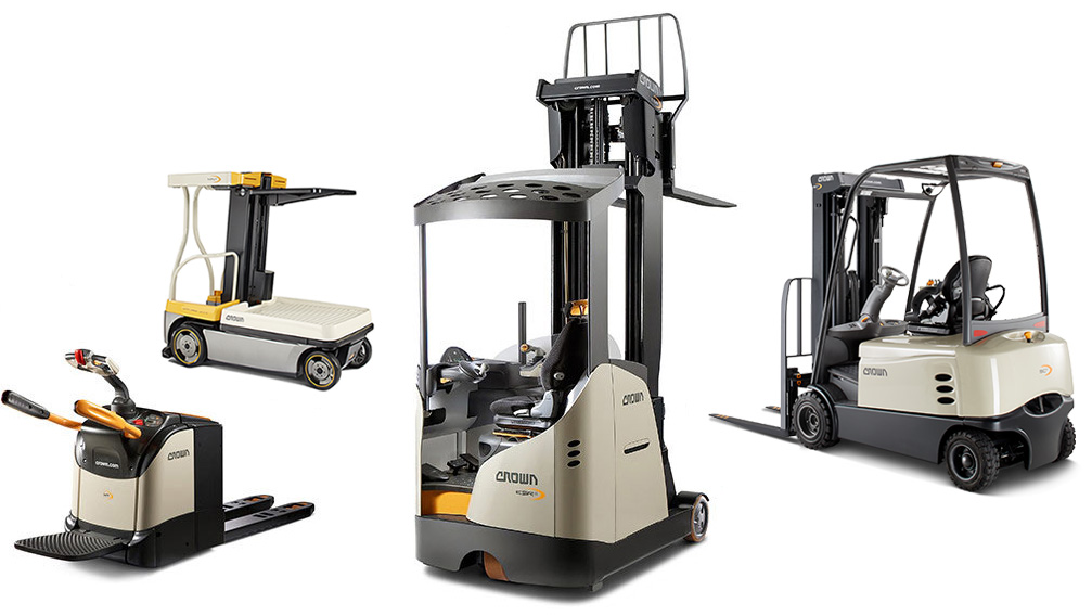 New and used forklifts from Crown available for purchase or rental