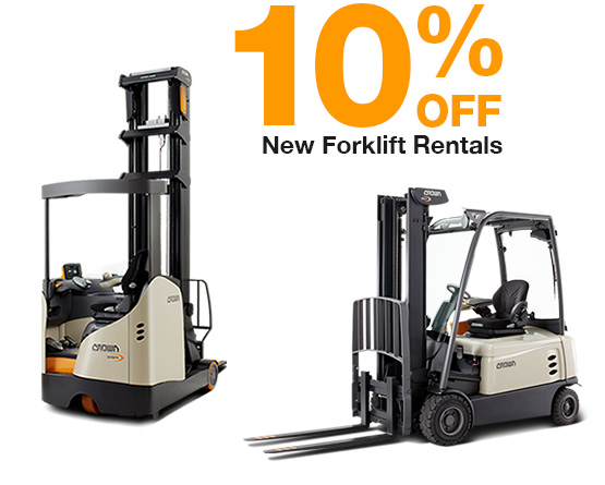 10% discount on new forklift rentals in England