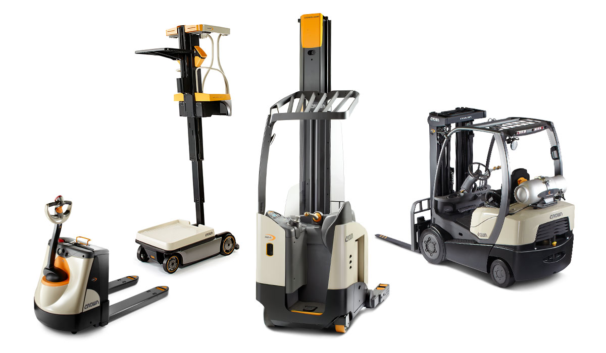New and used Crown forklifts available for purchase or rental