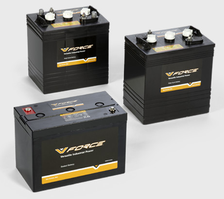 v-force motive power deep cycle and starter batteries