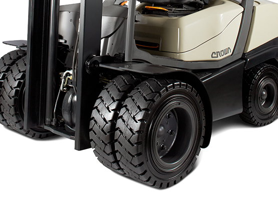 C-5 LPG Forklift Super-Elastic Dual Tyre Option
