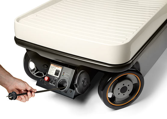 the WAV order picker is available with retractable charger cord reel