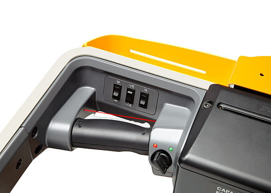 the WAV order picker features hand sensors for safe operation