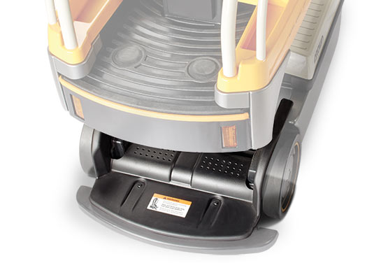 the WAV order picker features safety sensors below the platform