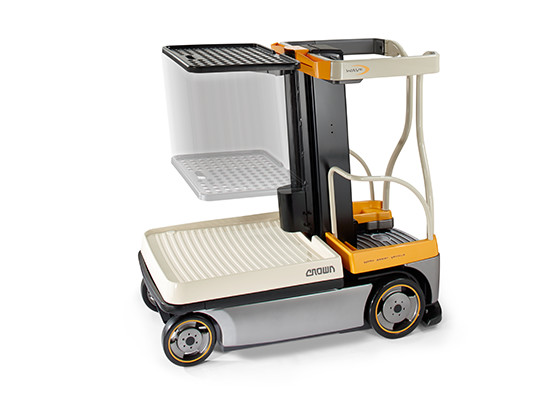WAV order picker with powered load tray