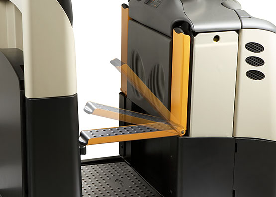 the GPC order picker is available with fold-down step