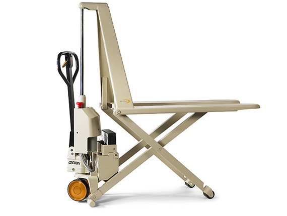 PTH pallet jack with powered scissor lift