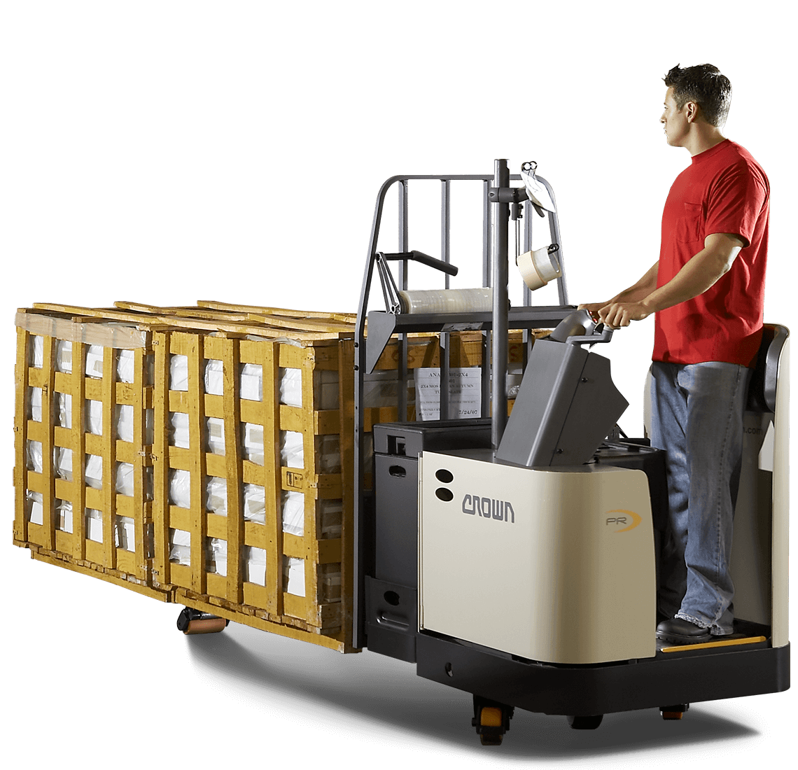 Crown PR series stand-up rider pallet truck