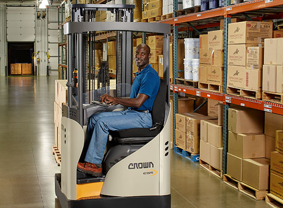 ESR Series reach truck transporting product