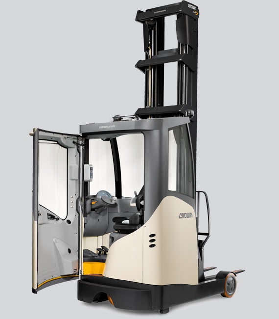 ESR Series reach truck with cold store cabin option.