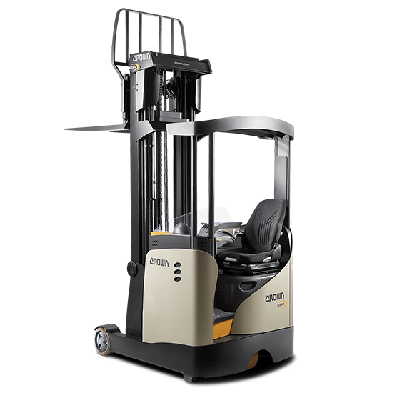Crown's ESR 5200 Series sit-down reach truck with moving mast
