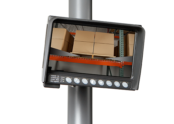RR Series narrow-aisle reach truck camera and color monitor option