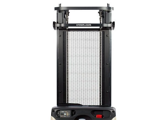 ES Series walkie pallet stacker metal mast grill offers more durability