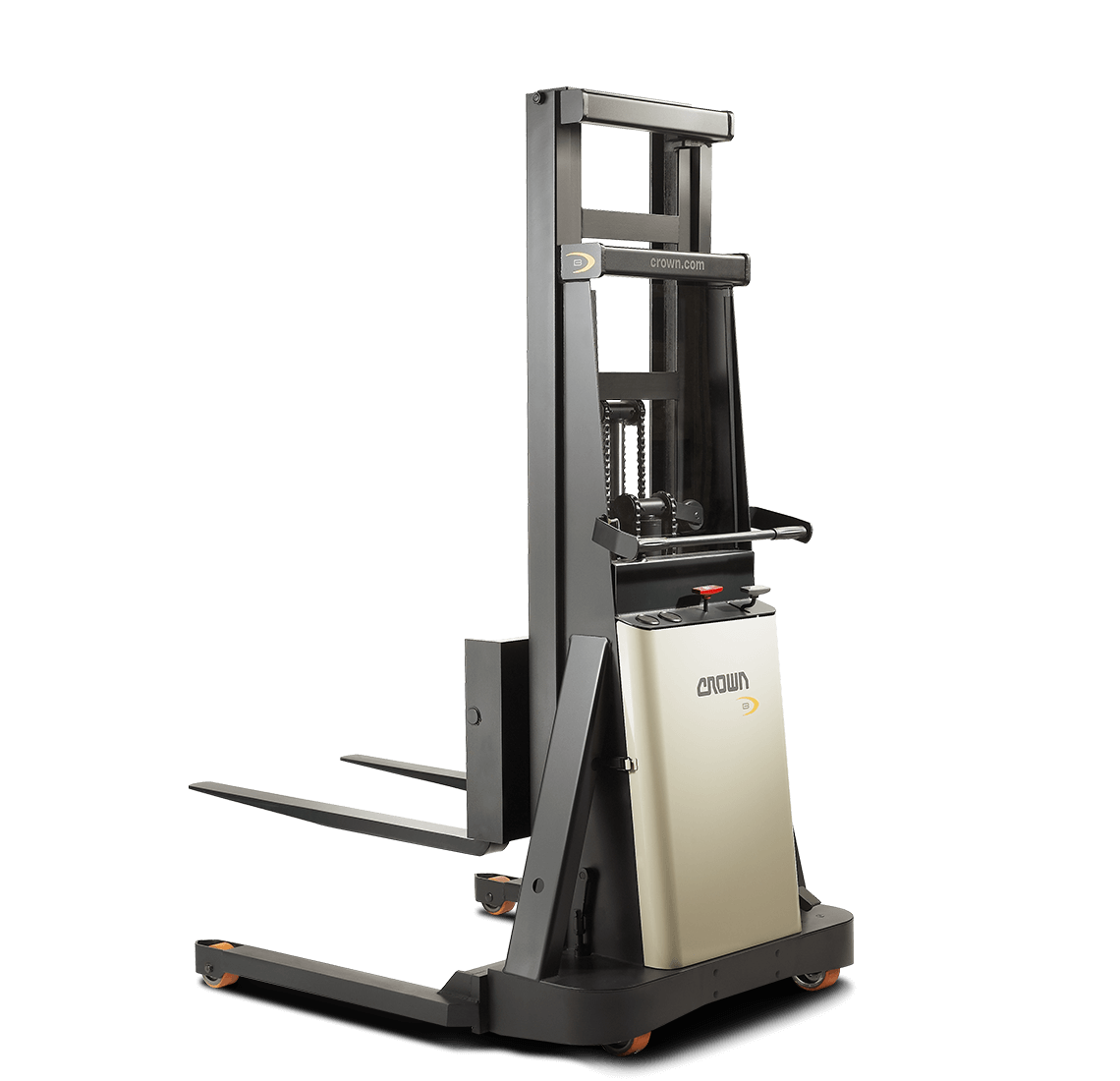 Crown's B series manual pallet stacker