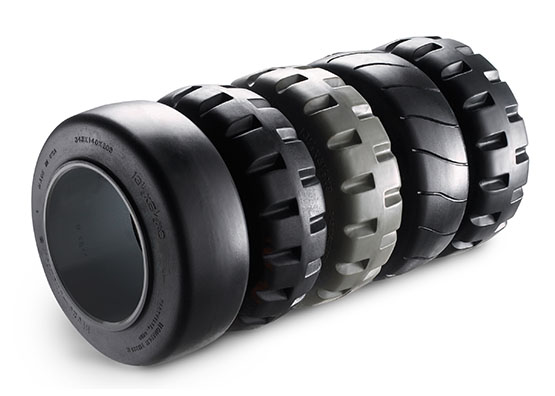 WB Series counterbalance stacker drive tires options