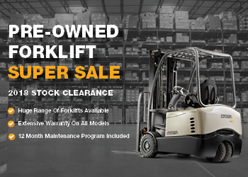 Crown Singapore Pre-Owned Forklift Clearance Supersale
