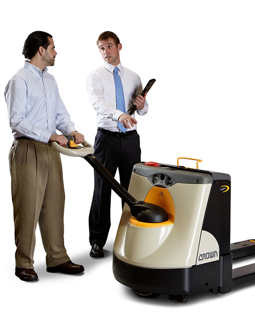 Crown Integrity Service measures performance standards of walkie pallet truck