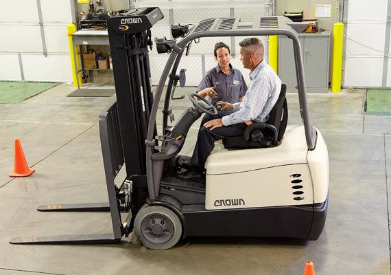 Crown forklift training instructor and operator