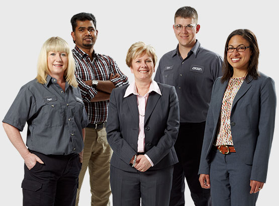 Employees from different departments across Crown Equipment Corporation