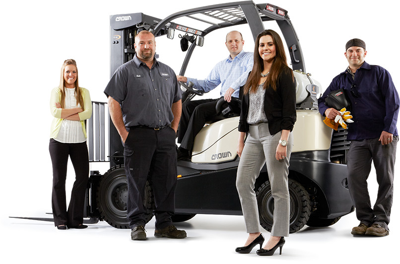 Crown designs and manufactures forklift trucks and other material handling equipment